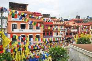 A View of Prayer Flags in Kathmandu