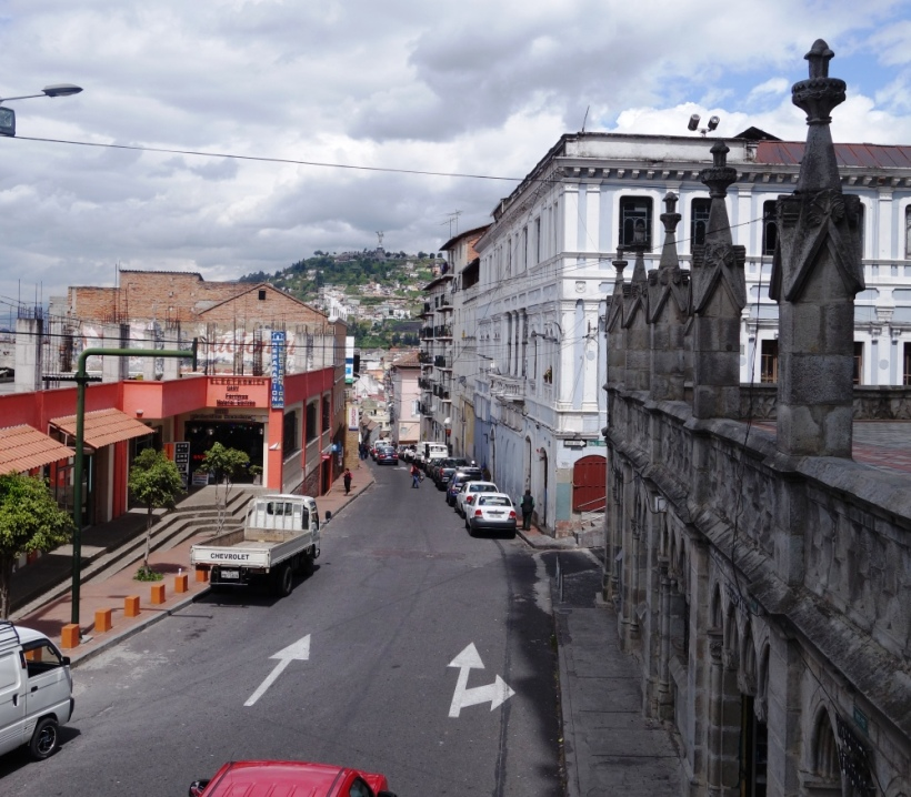 View of the Old Town in Quito, Ecuador