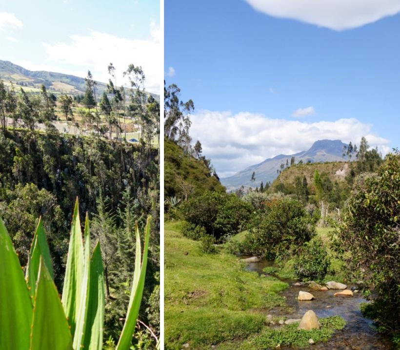 View of Imbabura volcano