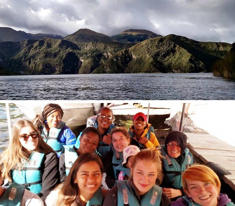 A boat ride on Cuicocha lake