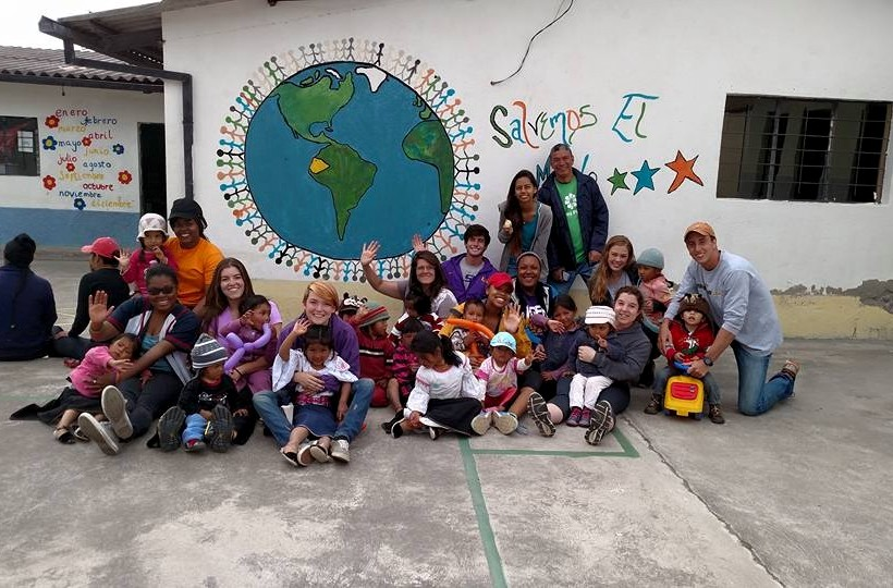 Louisiana State volunteers with the indigenous community in Otavalo