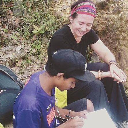 Susana Acosta in Nepal w:guide