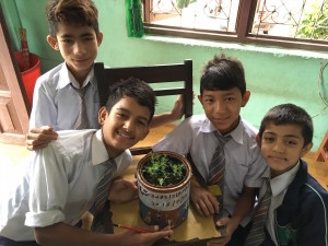 my Deaf students show their pride about plant project