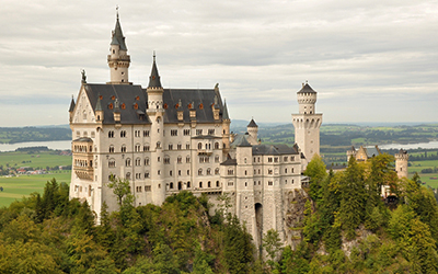 Exterior of Neuschwanstein Castle in Germany