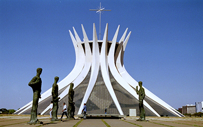 The Cathedral of Brasília in Brasília, Brazil.