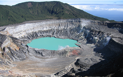 Poas Crater in Costa Rica