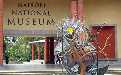 Entrance to the Nairobi National Museum in Kenya
