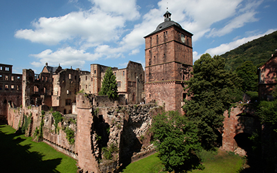 View of Heidelberg Castle in Germany