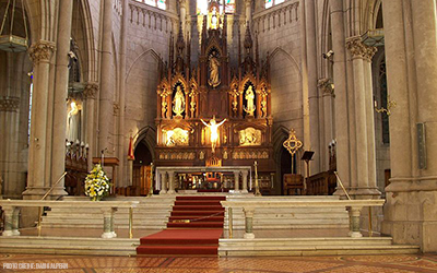 Interior of the Cathedral of Mar del Plata, Argentina.