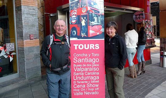 Walking tour of downtown Santiago