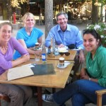 Volunteers at lunch in Chile