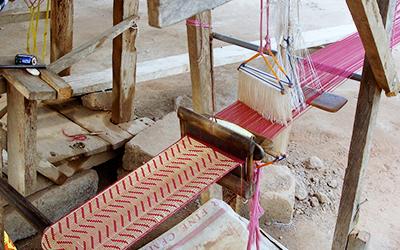 Weaving Kente in Ghana