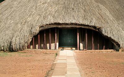 Entrance to Kasubi Tombs in Uganda