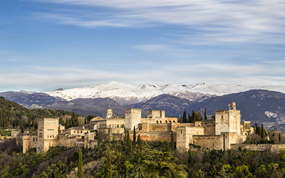 Exterior of Alcazar Castle in Andalucia spain