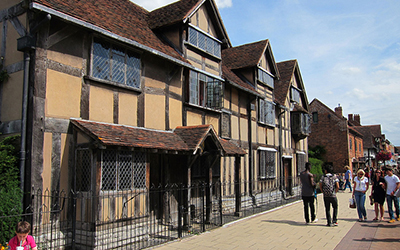 Exterior of Shakespeares House in UK