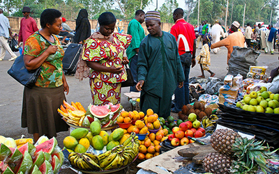 Fruit stall in Nigeria