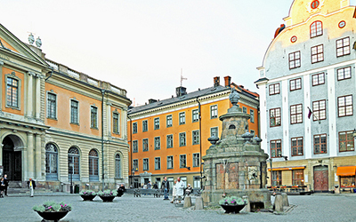 Square in Old Town Sweden
