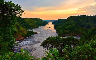 River Nile at Sunset in Uganda