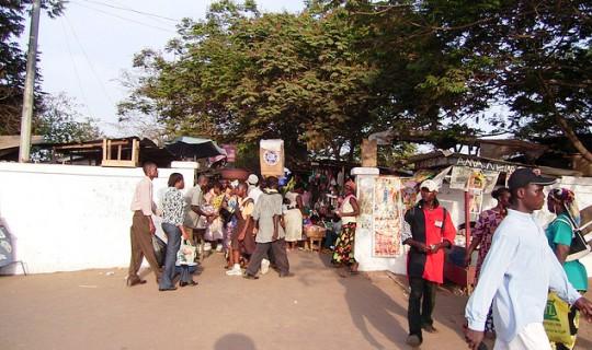 Local market in Ghana