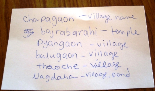 Language lesson in Nepal
