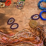 Hand-made beaded jewelry in Tanzania