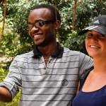 Two volunteers in Tanzania